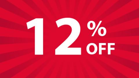 12% הנחה לרכישה מעל 60$ עד ל 21 באוקטובר!