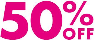 50% הנחה על כל מוצרי הקוסמטיקה